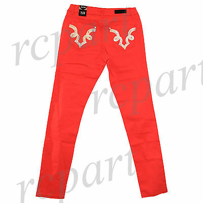 New Jeans Colony Girls Junior Red Long Jeans Casual Size 3 to 13