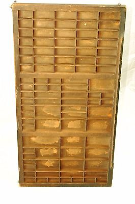 Antique Wooden Printers Block Drawer for Small Collectables Thimbles Vintage Old