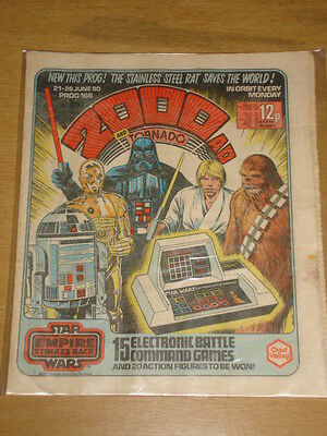 2000Ad #166 British Weekly Comic Judge Dredd Jun 1980 Star Wars Issue *