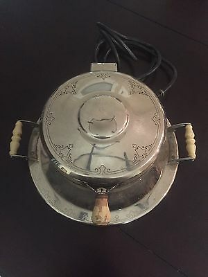 "Vintage Westinghouse ""Circle W"" Waffle Iron Working Art Deco Made in USA"