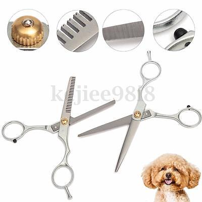 Professional Dog Cat Hair Cutting/Thinning Pet Scissors Shears Grooming Set
