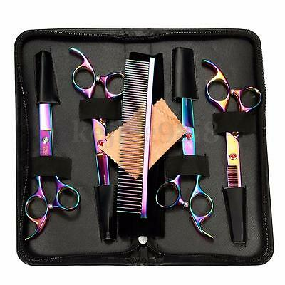 New Professional Pet Dog Grooming Scissors Cutting &Thinning &Curved Shears Set