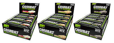 MusclePharm Combat Crunch Bars - Low Sugar, Gluten Free Protein Snack (12 Bars)