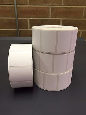 "6 Rolls 1.5"" x 1"" Labels 1375 Direct Thermal for Zebra or Eltron Printers 8,250"