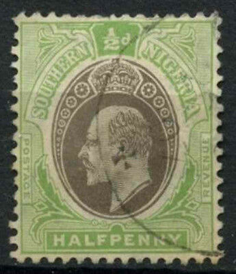 Southern Nigeria 1904-9 SG#21, 1/2d Grey-Black & Pale Green KEVII Used #D19008