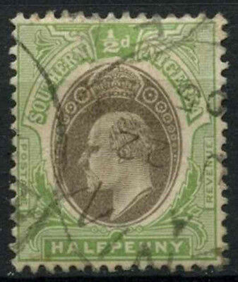 Southern Nigeria 1904-9 SG#21, 1/2d Grey-Black & Pale Green KEVII Used #D19010