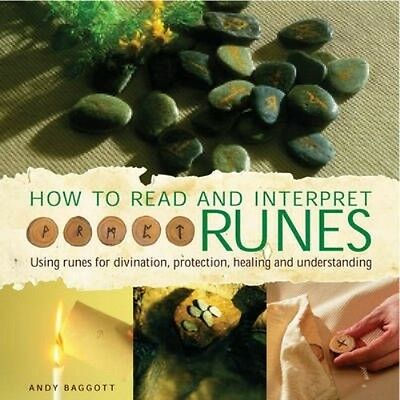 How to Read and Interpret the Runes by Andy Baggott Hardcover Book (English)