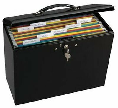 File Lock Box Folder Storage Boxes Security Metal Portable Organizer Office Home
