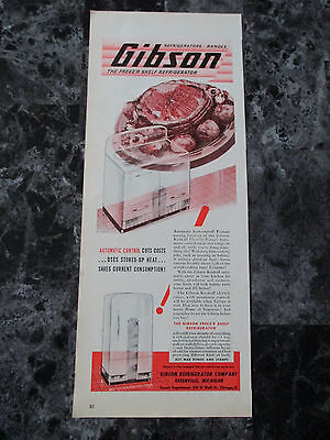 "Vintage 1944 Gibson Refrigerator Company Print Ad, 14"" X 5.625"""