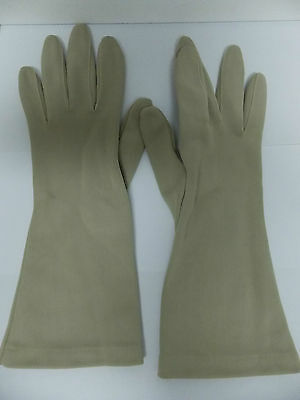 Vintage Miss Aris Nylon Stretch Gloves Beige