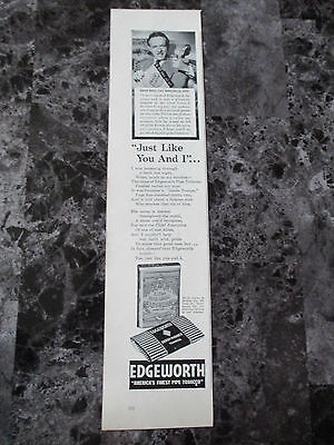 "Vintage 1942 David Ross CBS Edgeworth Pipe Tobacco Print Ad, 14"" X 3.25"""