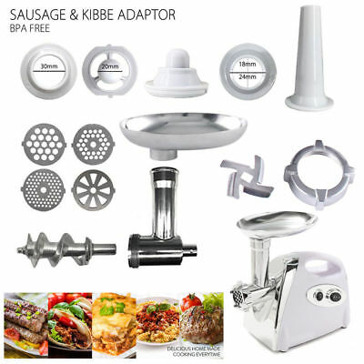 AU-4Blate ELECTRIC MINCER 2800W STAINLESS STEEL KIBBE SAUSAGE MAKER MEAT GRINDER