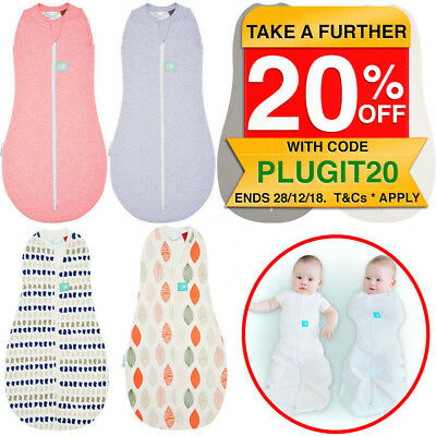 ErgoPouch Organic Baby Swaddle Sleeping Bag Cotton Sleep Wrap Blanket 3-12m TOG1