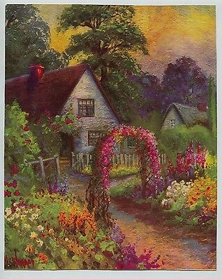 Spring Time by William S Coleman Country Girls Sheep Cottage 8x10 Print 2613