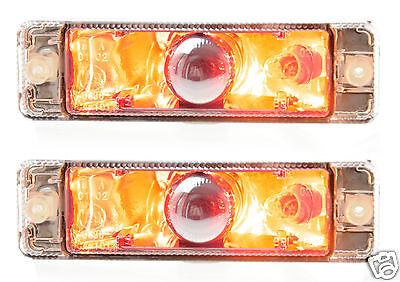NEW, PAIR of Indicators, signals with Park lights to suit ARB Bullbar 135 x 38mm