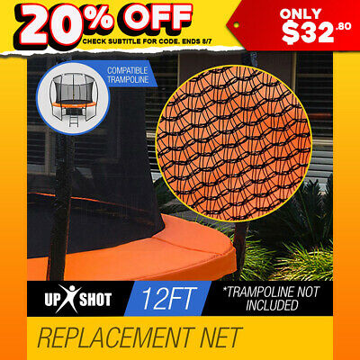 Up-Shot Replacement Trampoline Inside Safety Net Spare Enclosure 12ft 8 Pole