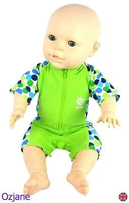Baby Boys Uv Upv 50+ Sun Protection Swim Suit 3 To 18 Months Grn Poppers Ozcoz