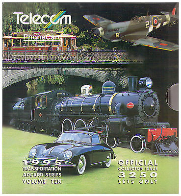 1995 Telecom New Zealand Phone Card Pack - AdCards Volume Ten Transportation