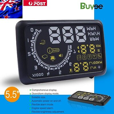 Universal Car HUD Head Up OBD2 II Speedometer Display Projector Speeding Warning