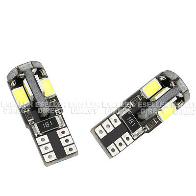 2x T10 LED 6000K SIDELIGHTS PARKING PURE WHITE XENON FREE ERROR AUDI A3 A4 A6 A8