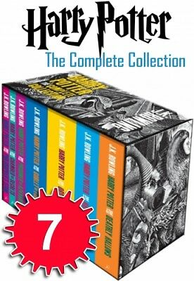 Harry Potter The Complete Collection 7 Books Set Box Collection J.K. Rowling NEW