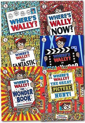 Where's Wally? Wow Collection 6 Large Books Set The Great Picture Hunt NEW