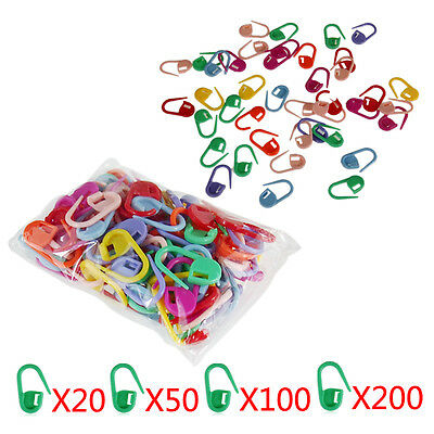 Mini Knitting Crochet Locking Stitch Needle Clip Markers Holder Plastic