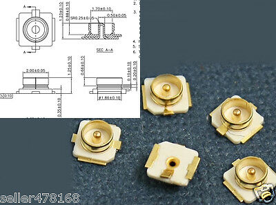 100PCS IPEX / IPX U.FL Socket U.FL-R-SMT Coaxial Connector Socket Jack male pin