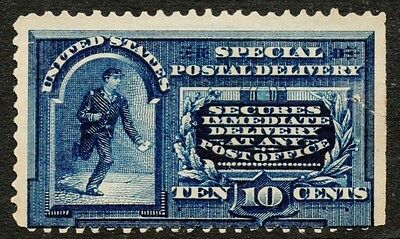 US Sc# E5 *UNUSED H* (( SPECIAL DELIVERY MESSENGER )) 1895 STRONG COLOR, W TEAR