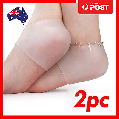 2pc Silicone Gel Sleeves Heel and Ankle Support Pain Relief Protector Pads
