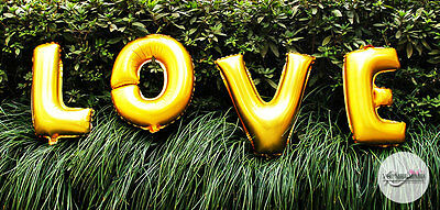 """Love Letter Foil Balloons Wedding Party Wall Table Decorations 40Cm 16"""" 2Color"""