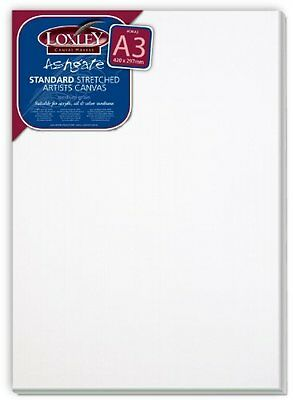Loxley A3 Size Traditional 18 Mm Depth Ashgate Stretched Artists Canvas White N