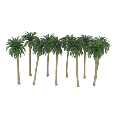 20 Plastic Model Tree Artificial Coconut Palm Trees Rainforest Scenery 1:150 7cm