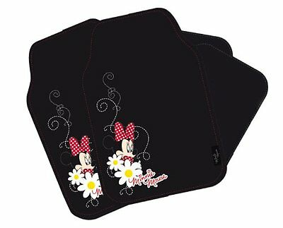 Disney Mi-Inn-800 Car Mat Set 4-Piece Minnie Mouse Home Household Supplies New