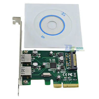 2 Ports 10Gb/s USB 3.1 Type-A PCI Express PCIE 4X Card Adapter Connector For PC