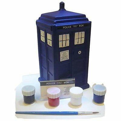 Doctor Who Superb Quality Tardis Paint-Your-Own Ceramic Money Bank New