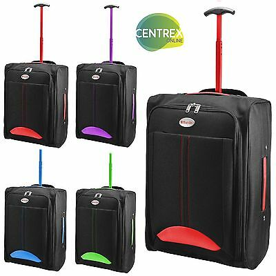 Cabin Bag Travel Wheeled Lightweight Suitcase Hand Luggage Trolley Holdall Hum4