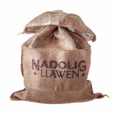 East of India Nadolig Llawen Sack Welsh Merry Christmas Gift Present Sack