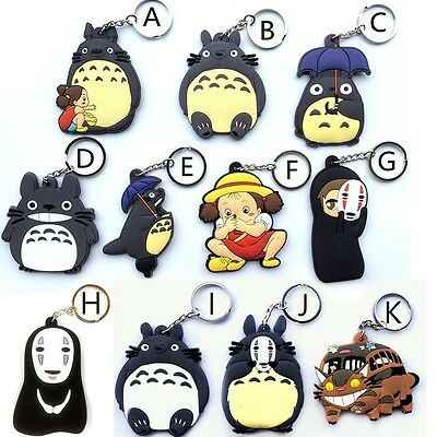Totoro Cat Bus Rubber Keyring/ Keychain/ Key Holder *5 design options*