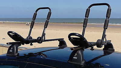 Heavy Duty Kayak Carrier Car Roof Rack Double Folding J Bars and Straps KR015