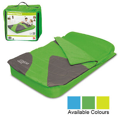 Aslepa Double Sleeping Bag Airbed Inflatable Camping Air Bed Mattress Pillow