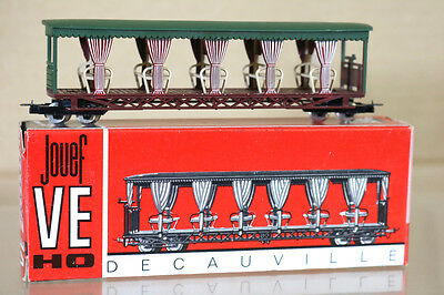 JOUEF EGGER BAHN PV40 HOe SCALE TOURIST OPEN COACH MINT BOXED ng