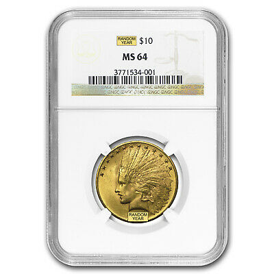 $10 Indian Gold Eagle MS-64 NGC (Random) - SKU #23202