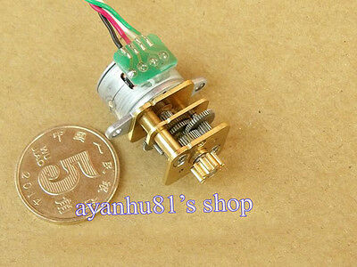 DC 5V-12V 15mm 2 Phase 4 Wire Reducer Stepper Motor 15BY Full Metal Gear Box