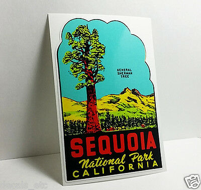 SEQUOIA NATIONAL PARK CALIFORNIA Vintage Style Travel DECAL / Vinyl STICKER