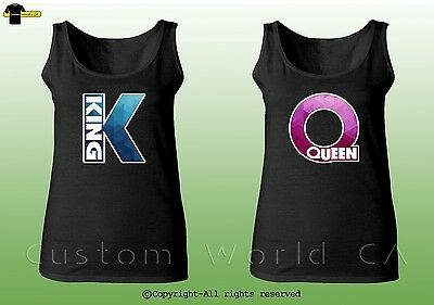 Couple Tank Tops - King & Queen - New Design His And Hers Love Matching Clothes