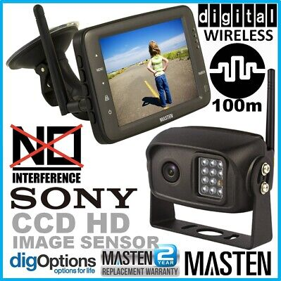 """'5"""" Monitor CCD Camera 2.4GHz Wireless HD Reverse Rear View For Horse Float Kit"""