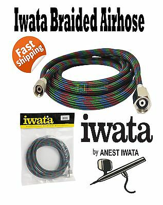 Iwata New Braided Air Hose 3 Metre Bt010 Airbrush 3Mtr Air-Brush Airhose