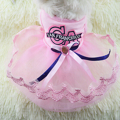 New Various Pet Puppy Small Dog Cat Princess Dress Apparel For Pet Clothes