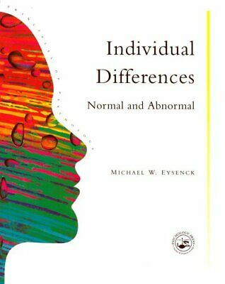 Individual Differences: Normal And Abnormal ... by Eysenck, Michael W. Paperback